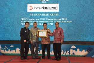 Lagi Bank Riau Kepri Raih TOP CSR Award 2018