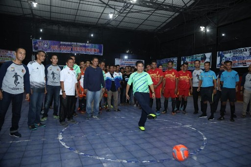 Resmi Dibuka, 80 Tim Ikut Turnamen Futsal Kapolres Rohul Cup II
