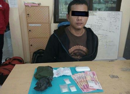 Bawa 3 Paket Sabu, Warga Rohul Ditangkap Begitu Turun Bus dari Medan