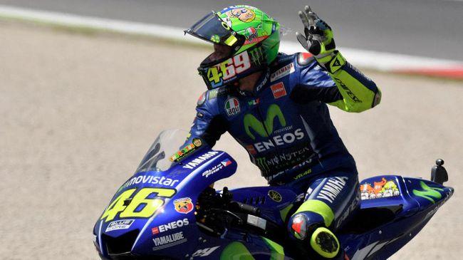 Kesedihan Valentino Rossi Kalah di Sirkuit Favoritnya