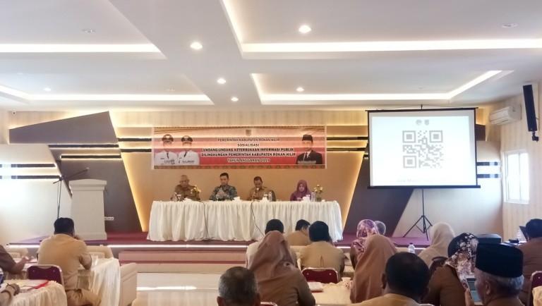 Komisi Informasi Riau Edukasi Seluruh Kadis dan Camat di Rohil