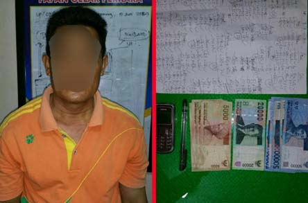 Polisi Tangkap Pelaku Judi Togel di Tanah Merah, Inhil