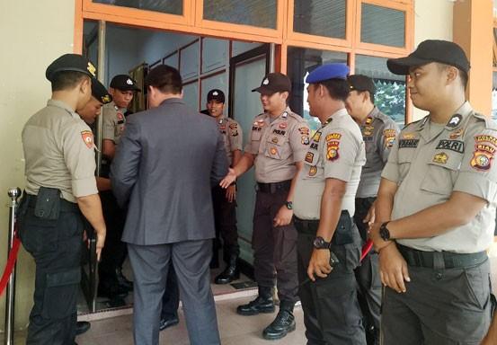 Gedung Tempat Pelantikan DPRD Bengkalis Dijaga Ketat Aparat