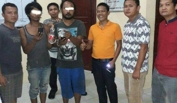 Polsek Koto Gasib Ringkus 2 Pengguna Narkoba di Tasik Seminai