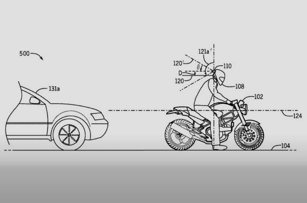 Honda Patenkan Sensor Radar Helm untuk Mencegah Tabrak Belakang