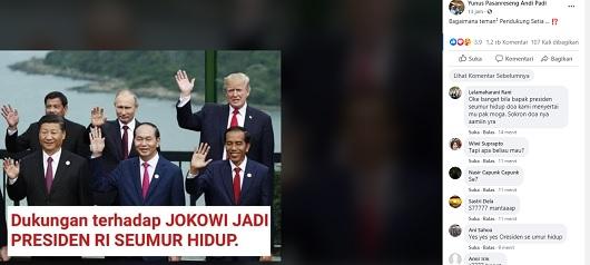 Pemimpin Dunia Dukung Jokowi Jadi Presiden Seumur Hidup? Simak Faktanya