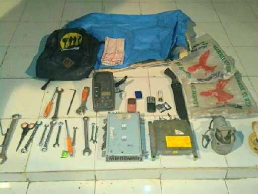 Dua Pelaku Spesialis Pencuri Elektronik Alat Berat di Dumai Diamankan Polisi, 1 Orang DPO