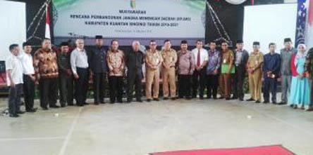Bupati Kuansing Hadiri Musrenbang RPJMD Kabupaten 2016-2021