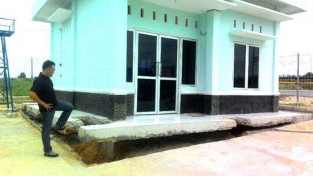 Bangunan Proyek Intake Air Baku Sungai Jurong Duri Dinilai Gagal