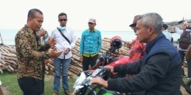 Monev Kegiatan Pembangunan di Pulaumerbau, Wabup Said Hasyim Naik Trail