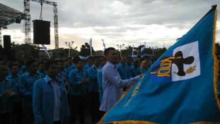 Pengurus DPD KNPI Rohul Dilantik di Lapangan Dataran Tinggi