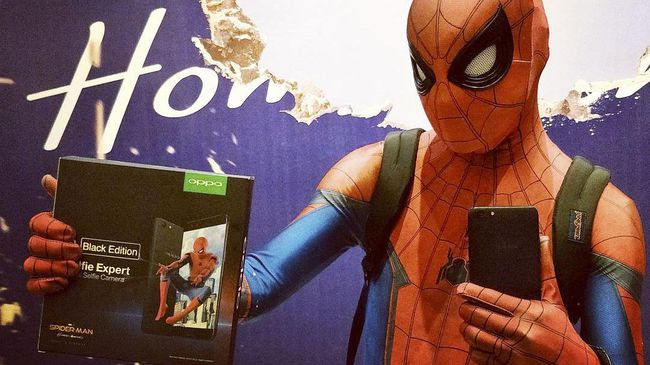 Oppo Bagi-bagi F3 Edisi Spider-Man: Homecoming