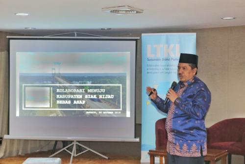 Bupati Alfedri Paparkan Strategi dan Kebijakan Siak Hijau di Forum Diskusi LKTL di Jakarta