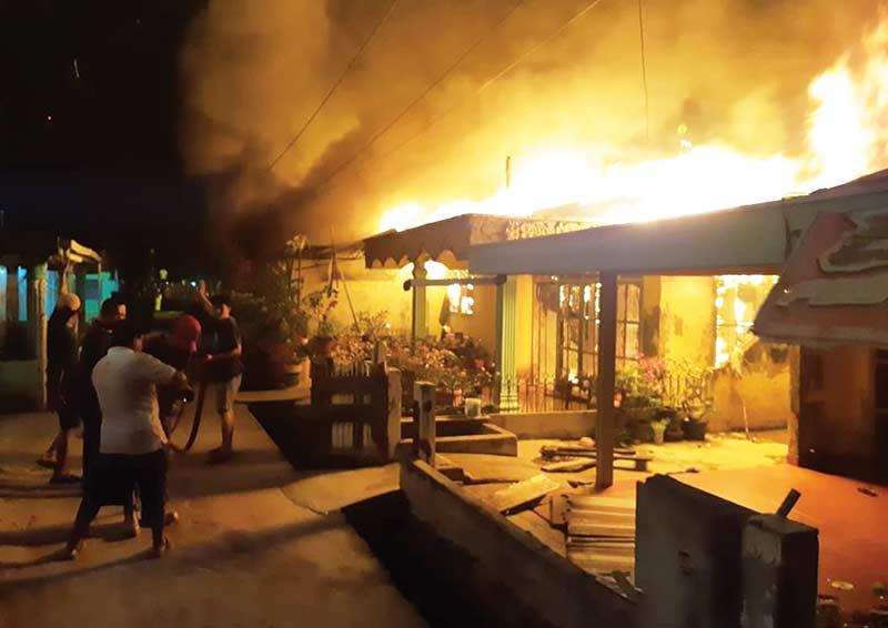 Tujuh Rumah Terbakar di Dumai
