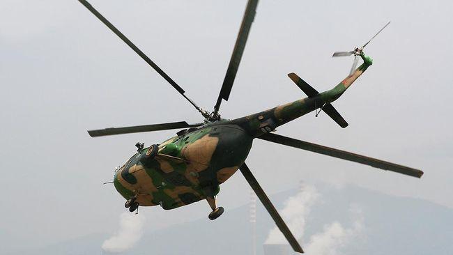 60 Prajurit TNI Bersiaga Evakuasi Helikopter MI 17