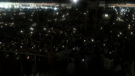 Jelang Kedatangan Prabowo, Lampu di Gelanggang Remaja Mati