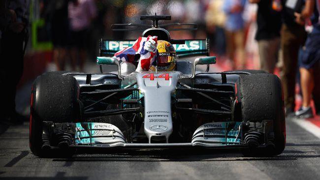 Lewis Hamilton Gembira Menang GP Inggris