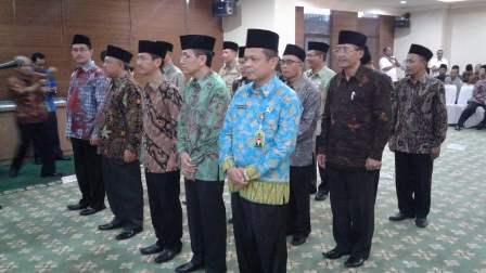 Ahmad Supardi Dilantik Menag sebagai Kakanwil Kemenag Riau