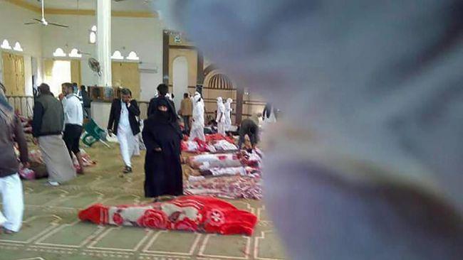 Pelaku Serangan Teror di Mesjid Sinai Bawa Bendera ISIS