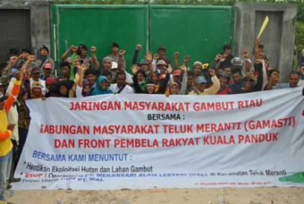 Kerap Terjadi Konflik, Masyarakat Desa Kuala Panduk Pelalawan Tuntut PT MAL Berhenti Operasi