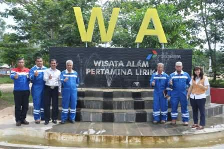 ESDM Propinsi Riau Kunjungi Wisata Alam Pertamina Lirik, Inhu