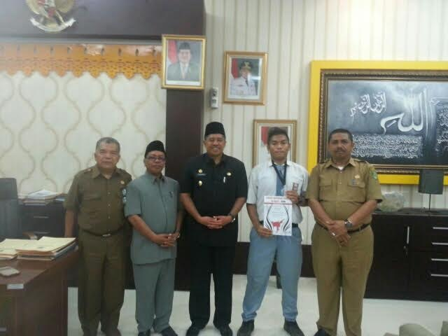 Harumkan Nama Indonesia, Wakil Bupati Siak Menerima Kunjungan Romario Sandra Joshua