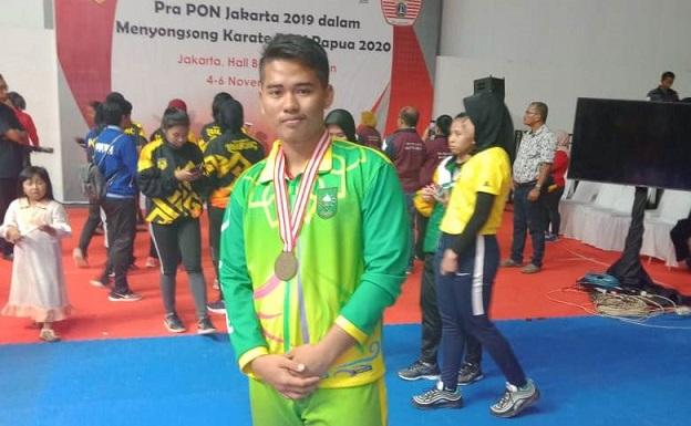 Muhammad Vega, Karateka Inhil Nyatakan Siap Tampil di PON XX