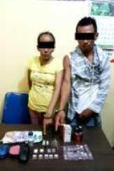 Polres Kampar Amankan Suami Istri Pelaku Narkoba di Bangkinang