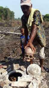 Ditemukan Tulang Tengkorak Manusia Dalam Guci di Rohil