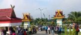 Senam Kamis Pagi Rutin Pemkab Pelalawan Minim Dihadiri Pegawai