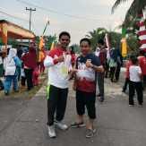 Bupati LIRA Rohil Hadiri Kegiatan Kampung Bersih Merah Putih Desa Parit Aman