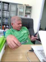 Pagar Kantor Kejari Pkl. Kerinci Dinilai Asal Jadi, T. Haryanthomas : Pak Kajari Akan Menelpon Kontr