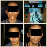 Polsek Bangko Pusako, Rohil Amankan Tiga Rampok Berpistol