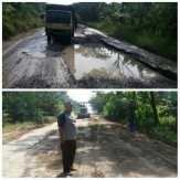 Paramitra Group-Perisai Perbaiki 13 Kilometer Jalan Rusak di Inhil