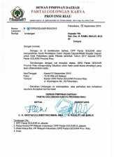 Informasinya, Ramli Walid Terima SK Penetapan Calon Walikota dari Golkar