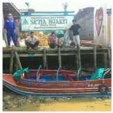Speedboat Ditabrak Pompong Bermuatan 20 Ton di Inhil, 2 Orang Hilang