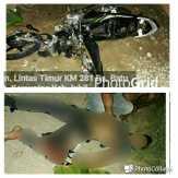 Terlibat Adu Kambing, Pengendara Sepeda Motor Tewas di Kemuning, Inhil