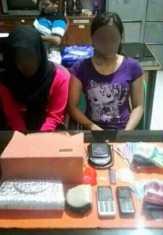 Dua Wanita Diamankan Polres Inhil karena Kedapatan Membawa Sabu