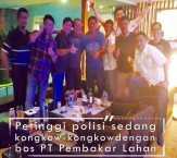 """Foto """"Kongkow-kongkow"""" Petinggi Polisi Riau dengan Bos-bos Perusahaan Terduga Pembakar Lahan Lukai H"""