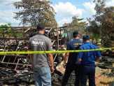 Tim Labfor Medan Olah TKP Gedung Disdik Pelalawan Terbakar