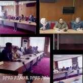 Temui Wakilnya di Provinsi, Anggota DPRD Rokan Hulu Sampaikan Persoalan Pembangunan Daerahnya