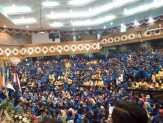 Mahasiswa Merangsek Masuk Ruang paripurna DPRD Riau