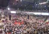 Ribuan Massa Pendukung Prabowo Padati Gelanggang Remaja, Banyak dari Luar Pekanbaru