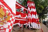 Camat Bangko Himbau Warga Pasang Umbul-Umbul