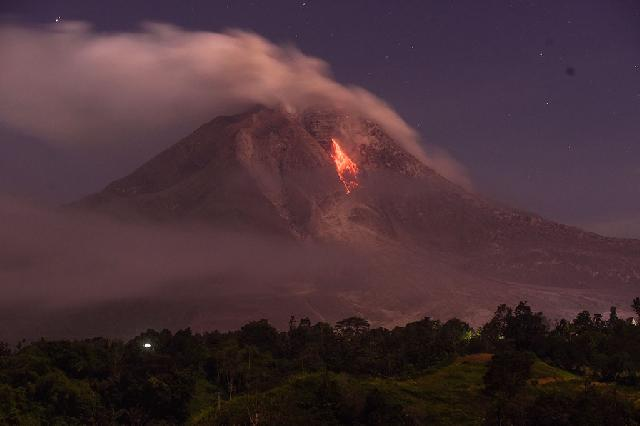 Guguran Kuba Lava Gunung Sinabung Meningkat