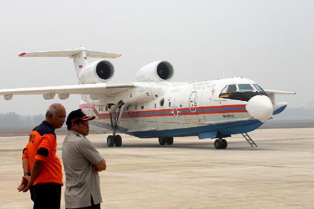 Bantu Padamkan Kebakaran Hutan, Pesawat Rusia Tiba di Palembang
