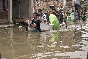 Ribuan Rumah di Dayeuhkolot Terendam Banjir