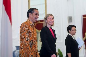 Presiden Terima Kunjungan Wapres Uni Eropa