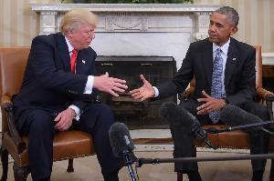 Obama-Trump Bertemu di Gedung Putih