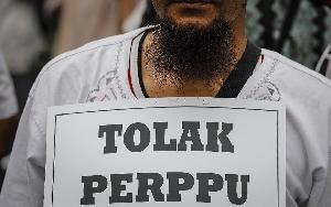 FOTO: HTI Turun ke Jalan Tolak Perppu Ormas